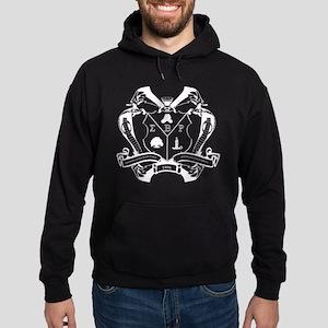 Sigma Beta Rho Fraternity Crest in W Hoodie (dark)