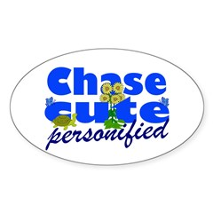 Cute Chase Sticker (Oval 50 pk)