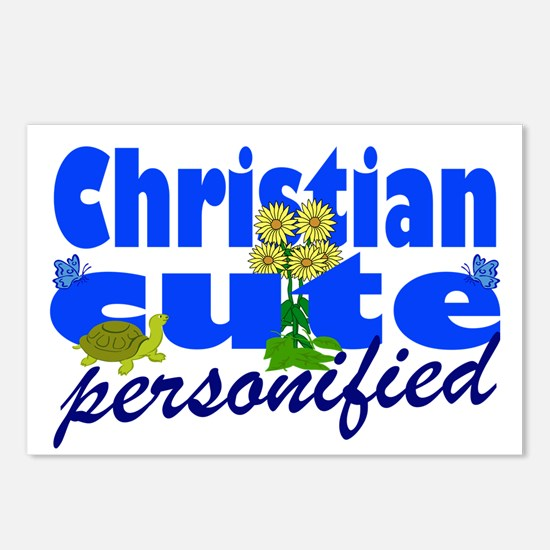 Cute Christian Postcards (Package of 8)
