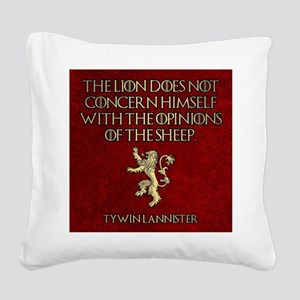 GOT OPINIONS OF SHEEP Square Canvas Pillow