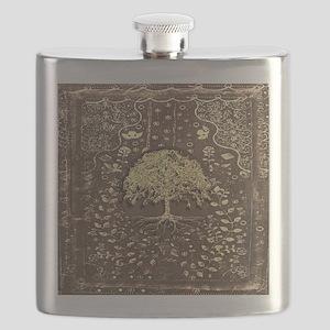 Tree of Life Fall Rustic Vintage Flask