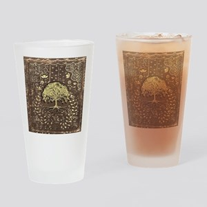 Tree of Life Fall Rustic Vintage Drinking Glass