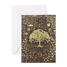 Tree of Life Fall Rustic Vintage Greeting Cards