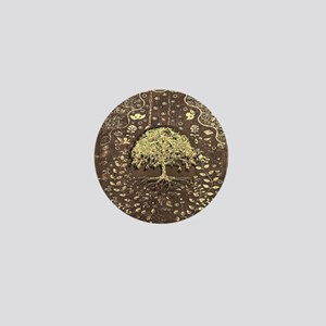 Tree of Life Fall Rustic Vintage Mini Button