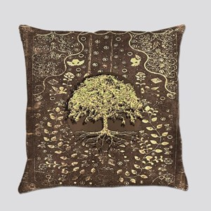 Tree of Life Fall Rustic Vintage Everyday Pillow