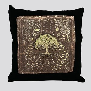 Tree of Life Fall Rustic Vintage Throw Pillow