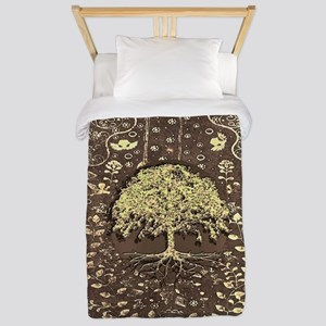 Tree of Life Fall Rustic Vintage Twin Duvet Cover
