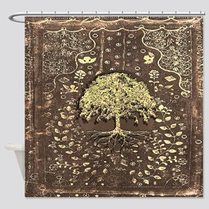 Tree of Life Fall Rustic Vintage Shower Curtain