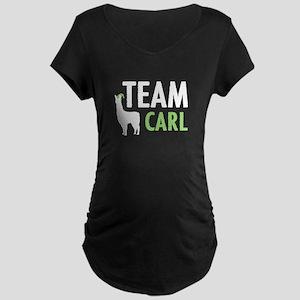 Team Carl Maternity Dark T-Shirt
