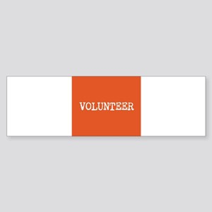 VOLUNTEER Sticker (Bumper)