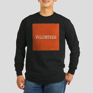 VOLUNTEER Long Sleeve Dark T-Shirt