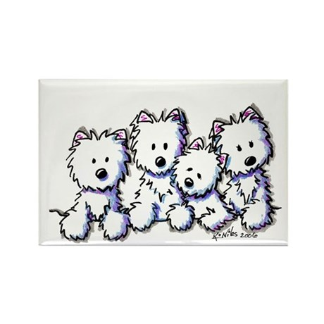 Westie Pocket Pawsse Rectangle Magnet (100 pack)