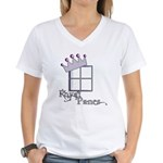 Royal Panes Women's V-Neck T-Shirt