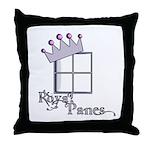 Royal Panes Throw Pillow