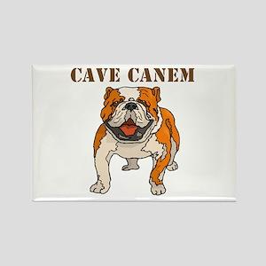 Cave Canem (Bulldog) Rectangle Magnet (10 pack)