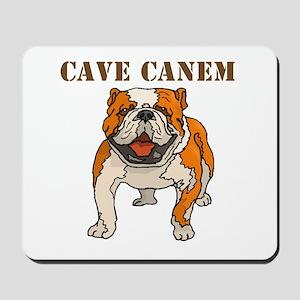 Cave Canem (Bulldog) Mousepad