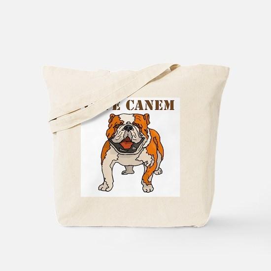 Cave Canem (Bulldog) Tote Bag