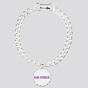 Air Force Zebra Pink Charm Bracelet, One Charm