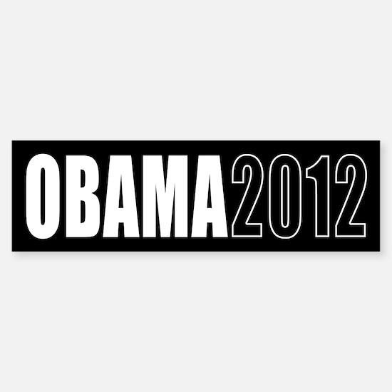 Obama 2012 Black Sticker (Bumper)