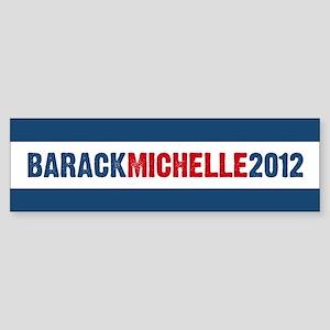 Barack Michelle 2012 Sticker (Bumper)