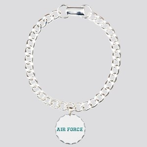 Air Force Zebra Aqua Charm Bracelet, One Charm