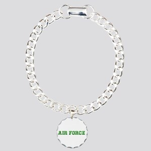 Air Force Zebra Green Charm Bracelet, One Charm