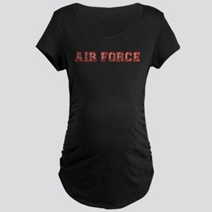 Air Force Zebra Red Maternity Dark T-Shirt