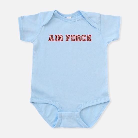 Air Force Zebra Red Infant Bodysuit