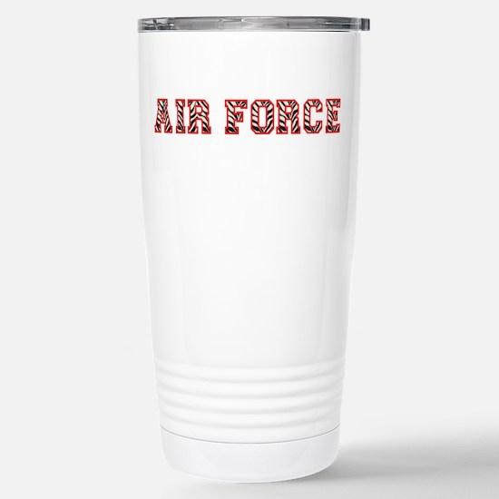 Air Force Zebra Red Stainless Steel Travel Mug