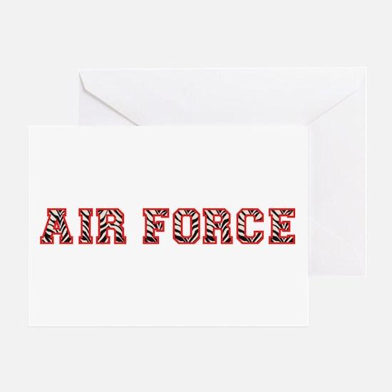 Air Force Zebra Red Greeting Card