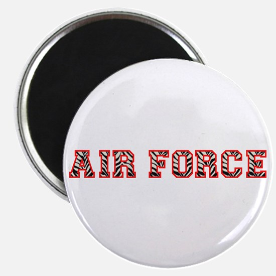 "Air Force Zebra Red 2.25"" Magnet (10 pack)"