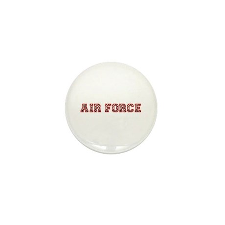 Air Force Zebra Red Mini Button (100 pack)