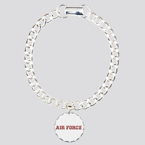 Air Force Zebra Red Charm Bracelet, One Charm