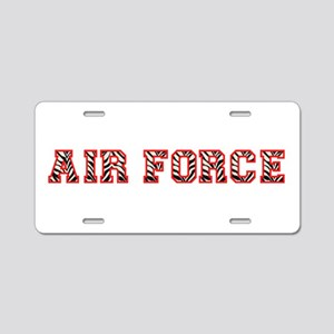 Air Force Zebra Red Aluminum License Plate