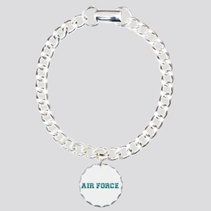Air Force Zebra Teal Charm Bracelet, One Charm