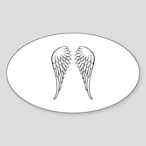 Angel wings Sticker (Oval)