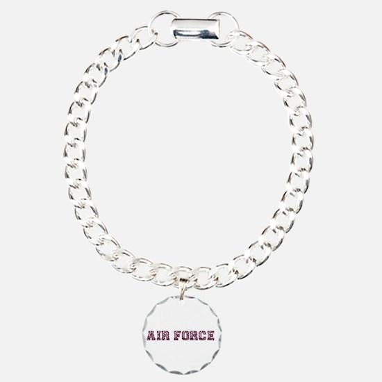 Air Force Zebra Maroon Bracelet
