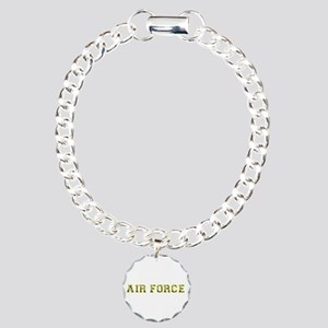 Air Force Zebra Yellow Charm Bracelet, One Charm