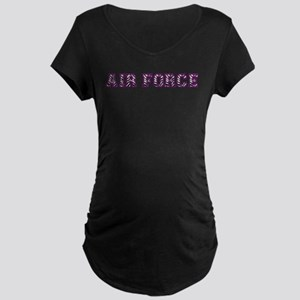 Air Force Zebra Dark Purple Maternity Dark T-Shirt