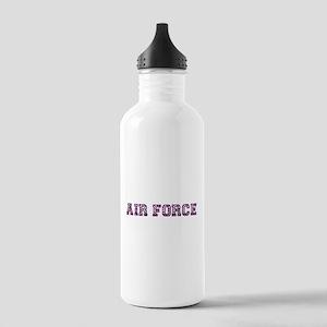 Air Force Zebra Dark Purple Stainless Water Bottle