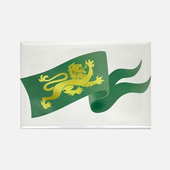 Lion Flag Rectangle Magnet