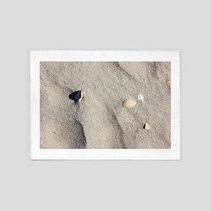 Ocracoke Island shell. 5'x7'Area Rug
