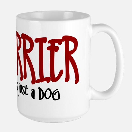 Fox Terrier JUST A DOG Large Mug