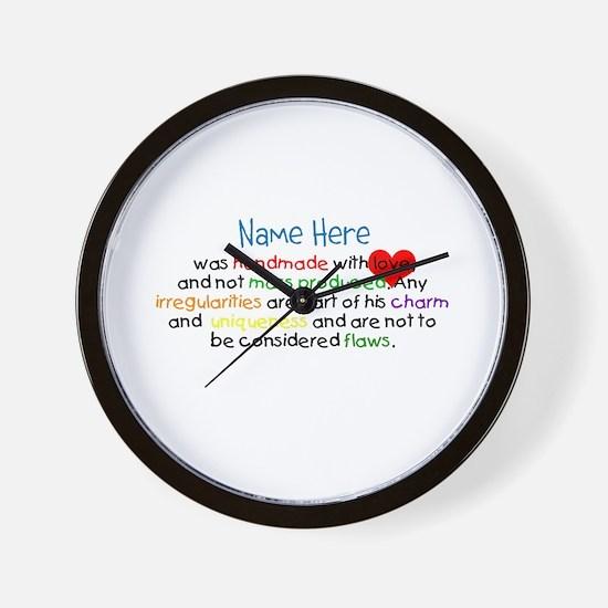 Handmade With Love Boys Customised Wall Clock