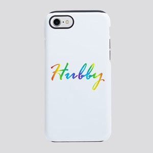 rainbow hubby gay couple iPhone 7 Tough Case