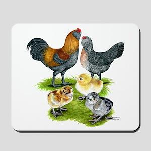 Ameraucana Chicken Family Mousepad