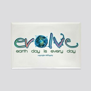 Evolve Every Day Rectangle Magnet