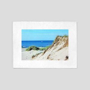 Orcracoke Island Beach 5'x7'Area Rug