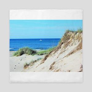 Orcracoke Island Beach Queen Duvet