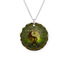 Yin Yang Green Tree of Life Necklace